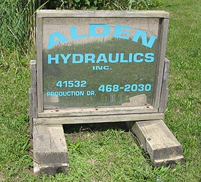 Alden Company Sign