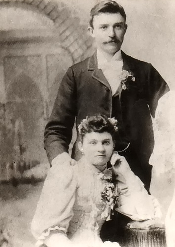 Alfred Trombly, Rose Rivard wedding 1894