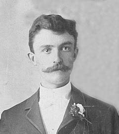 Anthony Schulte on his wedding day in 1890