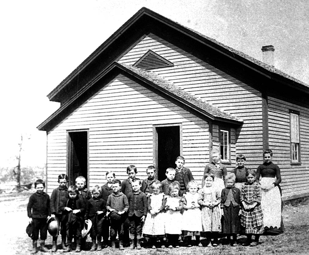Greenbush School group in 1887 in WI