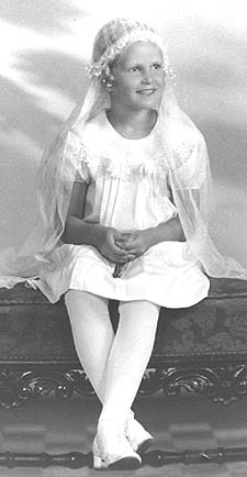 Rosemarie in First Communion attire