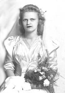 Rosemarie bridesmaid 1945 for Henry and Mary Lou