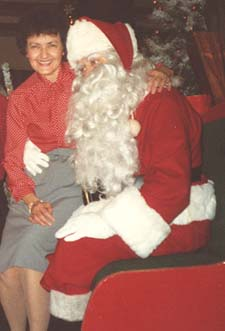 Walter Jeske (brother) Santa and sister Esther Schoel at a Mall