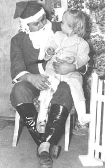 Walter Jeske (dad) Santa and daughter Mariana Jeske in 1952