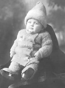 Walter as an infant